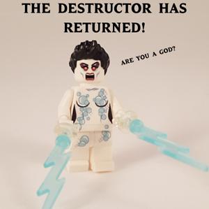Ghostbusters Gozer inspired custom printed Destructor Minifigure