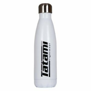 Tatami-Eau-Flasque-500ml-Blanc-avec-Logo-Noir-Bouteille-Flasque-Bjj-Pas-Gi-Boxe