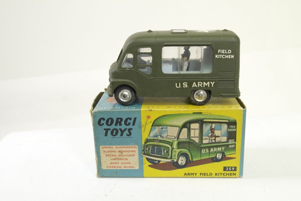 Corgi Commer field kitchen - Matt green - A+ B