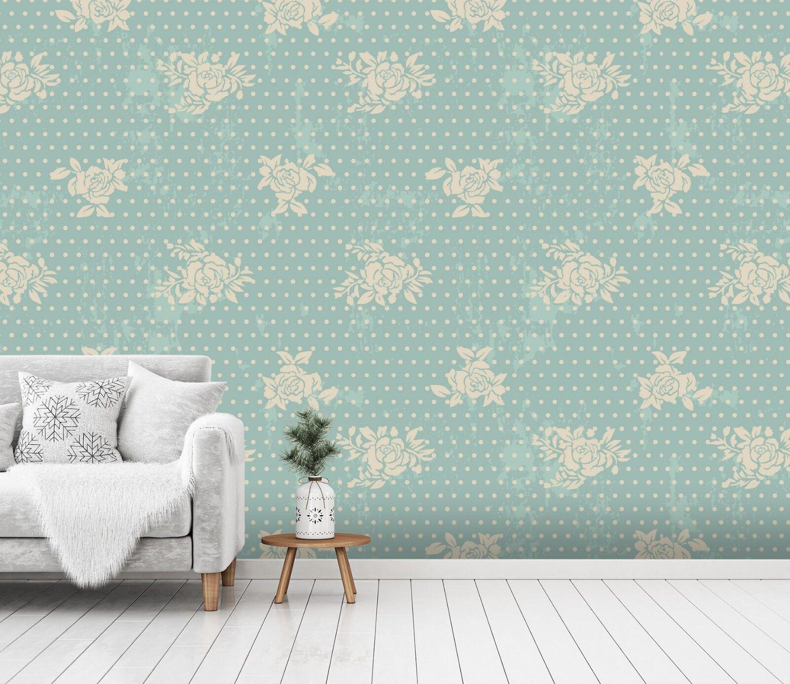 3D Klassische Blaumenform 22 Tapete Wandgemälde Tapete Tapeten Familie Kinde DE