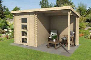 28 mm Gartenhaus 390x195 cm Gerätehaus Pultdach Neu Holz ...