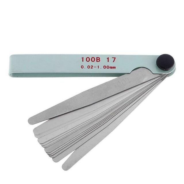 17Blatt 0,02-1,00mmMesswerkzeug Abstandslehre-Fühlerlehre-Ventillehre Zubeh S7C0