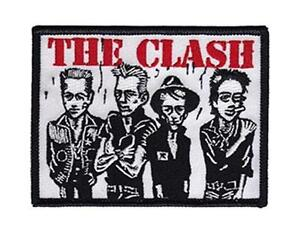 OFFICIAL-LICENSED-THE-CLASH-CARICATURE-WOVEN-SEW-ON-PATCH-PUNK-STRUMMER