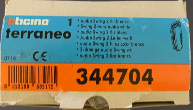 lt terraneo audio 2 fils blanc swing 344704 bticino