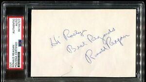 Ronald-Reagan-autograph-Cut-personalized-PSA-DNA-Authentic-Autograph