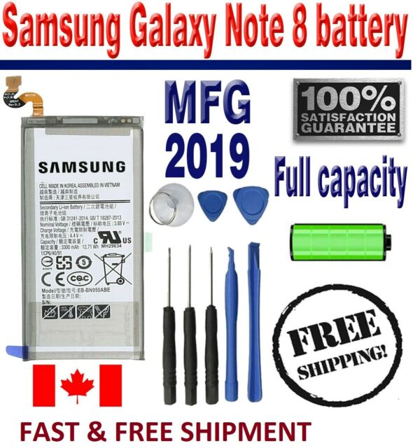 New Replacement Samsung Note 8 Battery 3300mAh EB-BN950ABA/ABE N950W with Tools