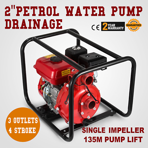 Details about Gas Powered Water Pump Flood Irrigation EPA Portable 7 5 HP  Water Transfer 2
