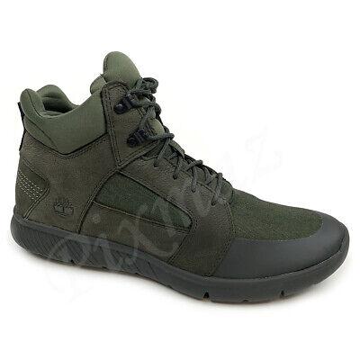 Timberland Men/'s Boltero Mixed Media Mid Black Chukka Boots A1IFL