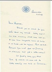 Prince PHILIP * Duke of Edinburgh * Brief v. 1969 * LETTER signed * authentisch?