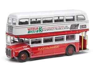 CORGI-OM46306B-AEC-ROUTEMASTER-Blackpool-trasporto-Doppio-DECK-Bus-modello-no12-1-76th