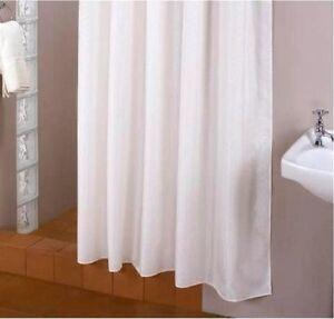 extra longueur! Rideau de douche en tissu 240 large x 250 haut blanc ...