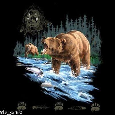 Bear Warrior HEAT PRESS TRANSFER PRINT for T Shirt Tote Sweatshirt Fabric #227e