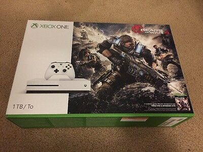 Brand New Sealed Microsoft Xbox One S 1Tb Gears of War Bundle