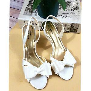 8bb8c8572b7 Kate Spade New York Micah Satin Slingback with Bow Bridal shoes Sz ...