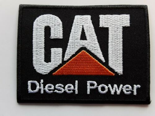 CAT DIESEL POWER INDUSTRIAL COMMERCIAL ENGINES EMBROIDERED PATCH UK SELLER