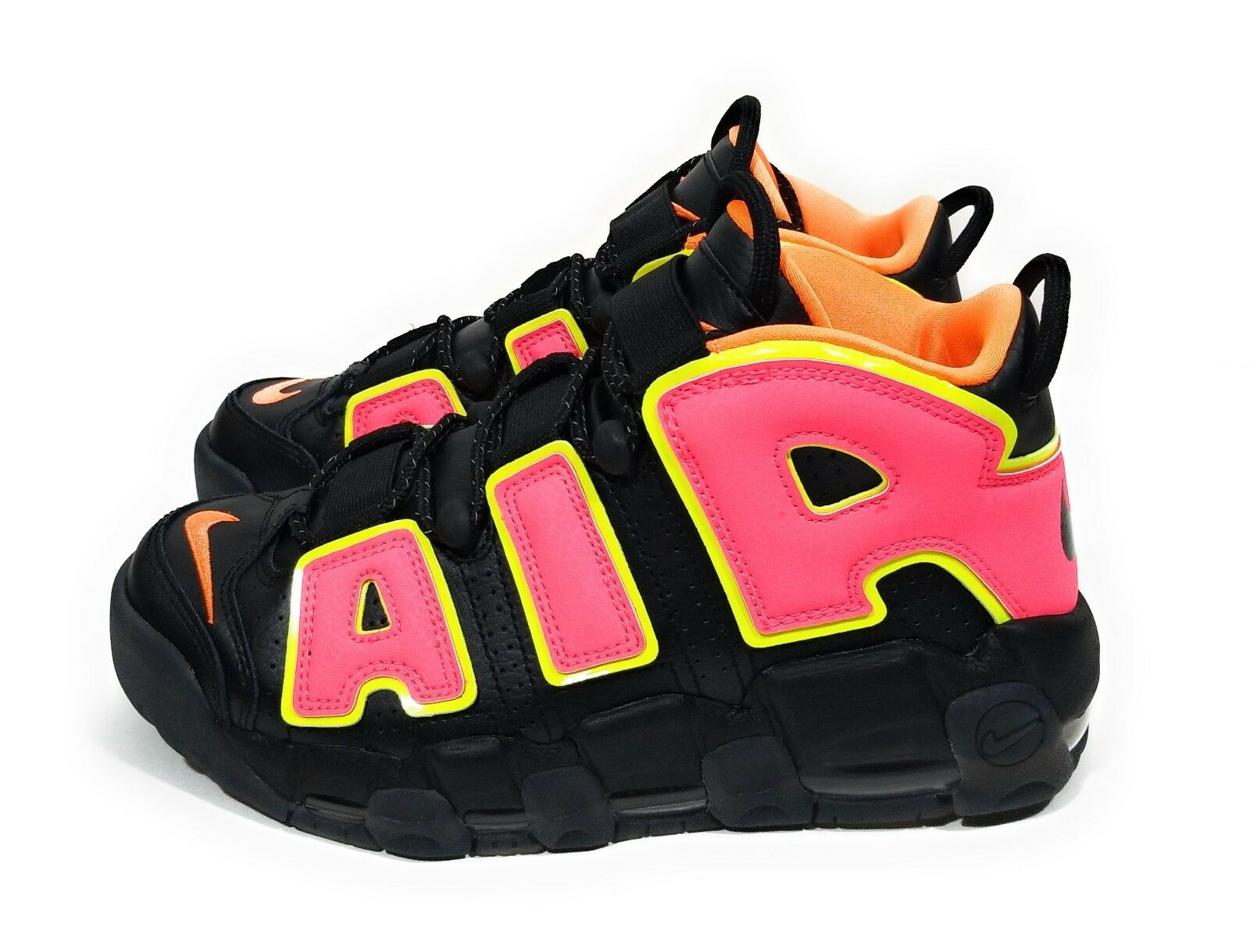 Nike Air More Uptempo Hot Punch Womens Basketball shoes Pink Black Size 7.5