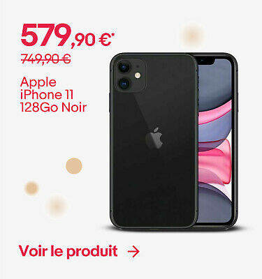 Apple iPhone 11 128Go Noir - 579,90 €*