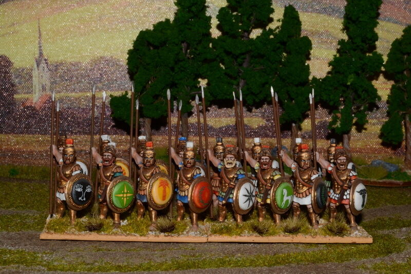 1 56 28mm DPS professional painted Ancient Greek Hoplites, no transfers RC481