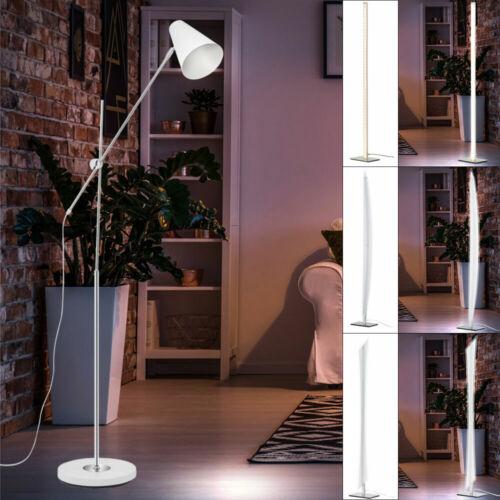 Luxus LED Steh Lampe Ess Zimmer Beistell Lese Decken Fluter Gelenk Spot Leuchte
