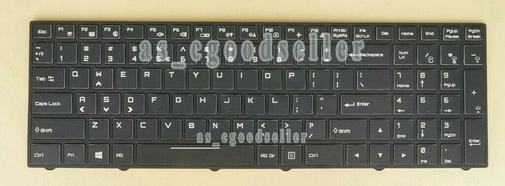 New for Clevo N857HJ1 N870HJ1 N850HP6 N870HP6 Keyboard Color BACKLIT US Frame