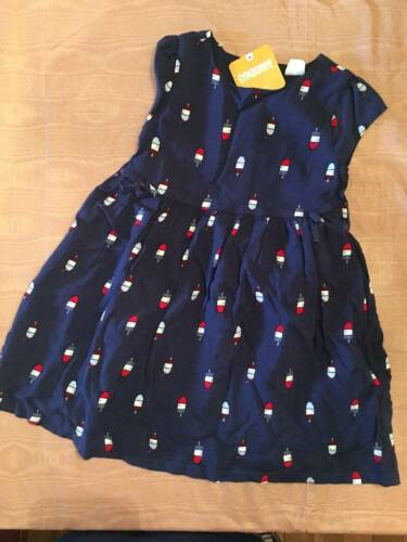 NWT Gymboree Star Spangled Days Navy Cotton Popsicle Print Dress 2T or 3T