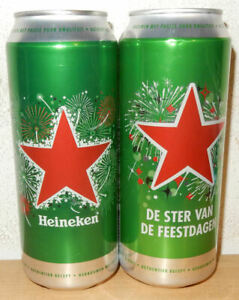 2 HEINEKEN CHISTMAS cans 2017 and 2018 Edition from HOLLAND (50cl)
