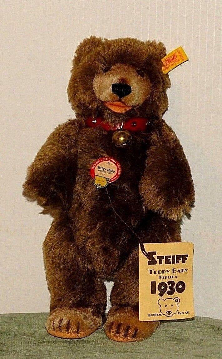 Steiff Teddy Baby Replica 1930 0175/29 1984-89 BSA06151069a