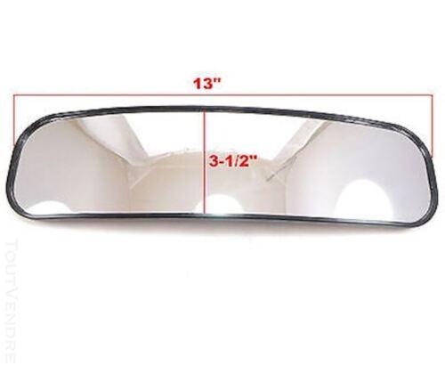 "Honda UTV Pioneer Big Red Wide Angle Convex Rear View Mirror 13/"" x 3.5/"""