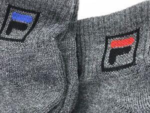 746306160c5 Details about FILA Socks - FILA Men's Gray Quarter Crew Socks - 6 PACK -  $36 MSRP