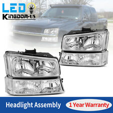 Chrome Housing Headlights For 03 06 Chevy Silverado Headlamps Signal Lights Pair Fits More Than One Vehicle