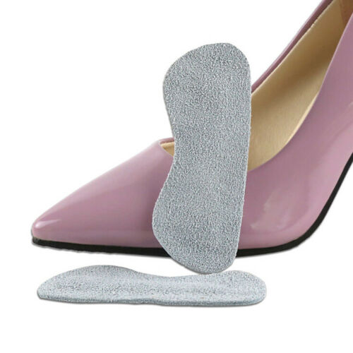 1 Pair Foot Care Cushion Insole Liner High Heel Shoes Back Leather Pad Insert HF