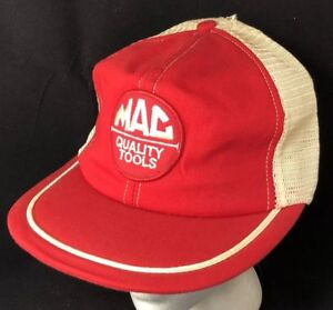 44cfe6e95 Vtg 80s Mac Tools Patch Hat Made In USA Trucker Mesh Snapback Cap ...