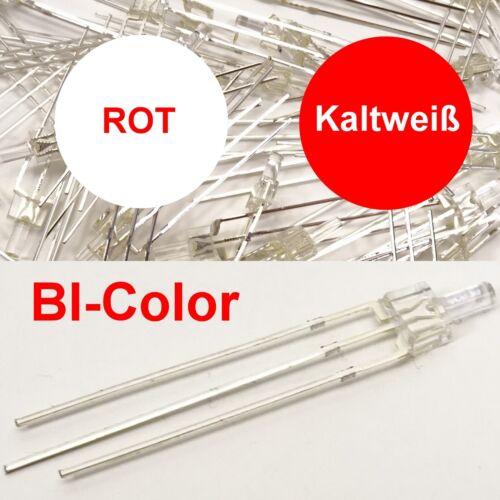 Tower LED 2mm bi color a freddo bianco//rosso chiaro 3-pin numero di pezzi selezionabile c3387