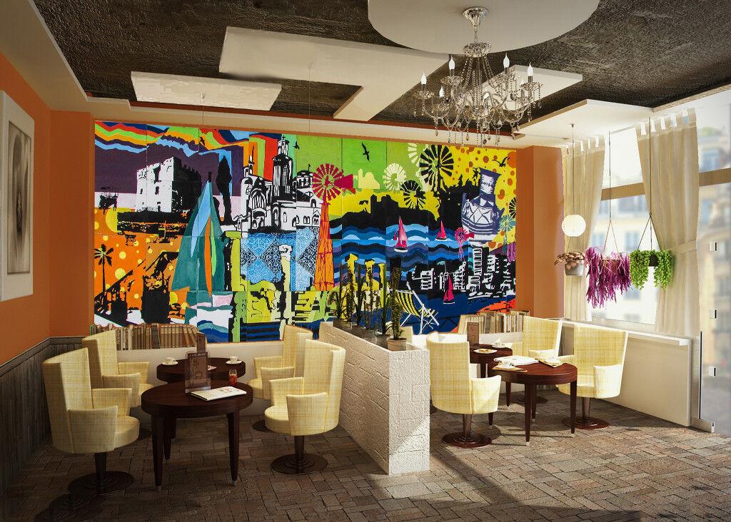 3D Graffiti Puzzle 86 Wall Paper Murals Wall Print Wall Wallpaper Mural AU Kyra