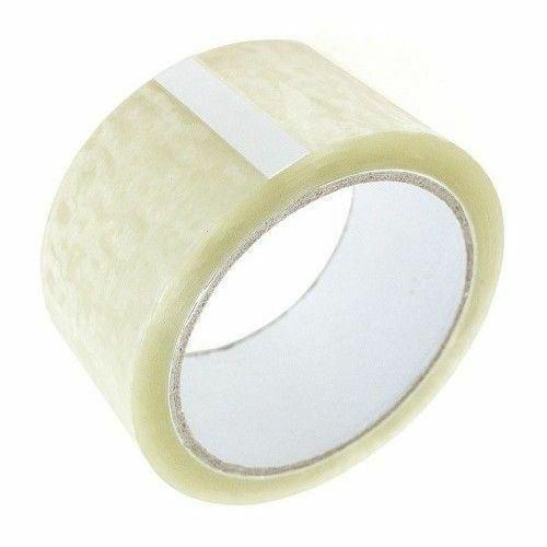 12 X Cinta de Embalaje Transparente Rollo De Paquetería Embalaje Sellado 50MM X 66M