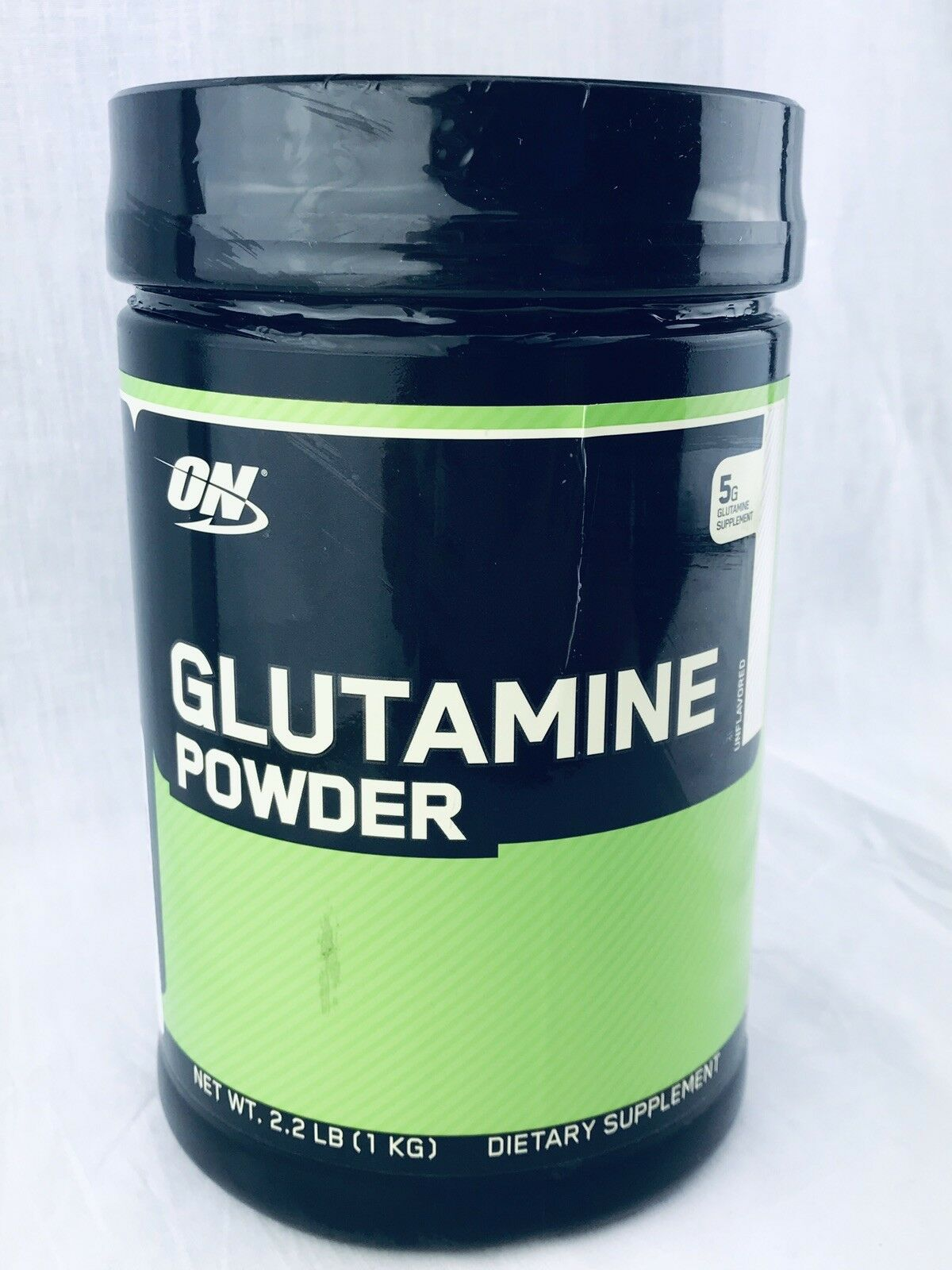 OPTIMUM NUTRITION GLUTAMINE POWDER 2.2lbs unflavGoldt muscle recovery aminos on