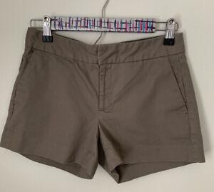 Banana-Republic-Hampton-Fit-Chino-Shorts-Size-0-Dark-Tan-Beige-Women-s-EUC