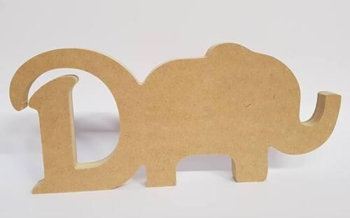 18MM MDF LETTER /& ELEPHANT SHAPE 200MM HIGH CRAFT BLANKS