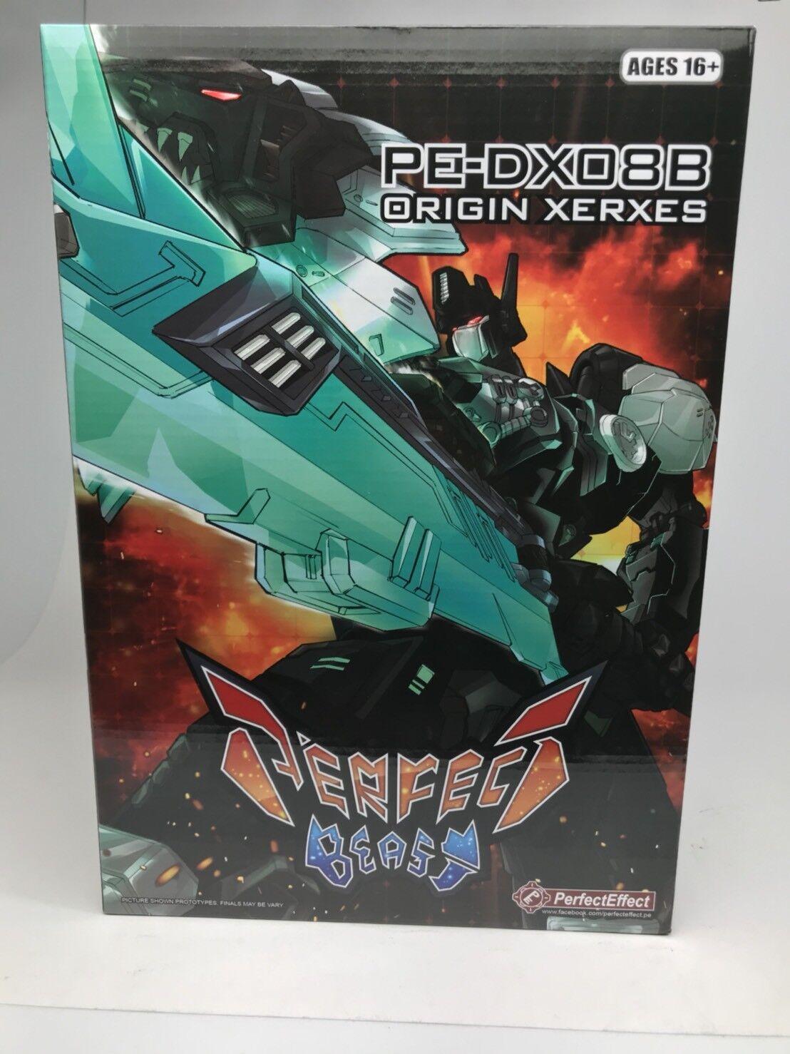 tienda en linea Sin usar usar usar y en caja sellada Transformers Perfecto efecto PE DX-08B origen Xerxes Negro versión DX08B  el más barato