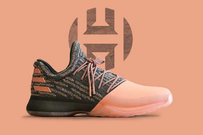Adidas James Harden Vol. 1 PK Gila Monster US SZ 15 Salmon Pink B39494 Boost mvp