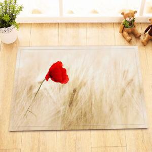 Red poppy flower wheat bath mat bathroom rug non slip home decor image is loading red poppy flower wheat bath mat bathroom rug mightylinksfo
