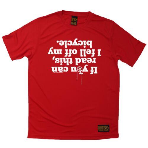 Cyclisme T-shirt je suis tombé sur mon vélo respirant tshirt t shirt DRY FIT T-Shirt
