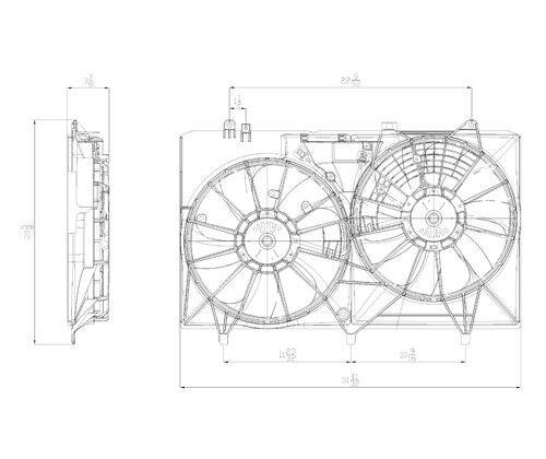 Radiator Fan Assembly For 2010-2013 Lexus RX450h 2011 2012 TYC 622680