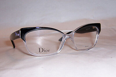 dfe2b8299fc NEW CHRISTIAN DIOR EYEGLASSES CD 3197 K4X BLACK 53mm RX AUTHENTIC