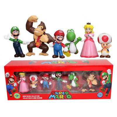 6Pcs Super Mario Bros Drôle Jeu Action Figure Poupée PVC Action Figure Jouet