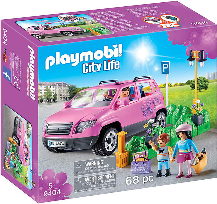 Playmobil City Life Family Family Family Car with Parking Space 9404 (for Kids 5 and up) 7b18b9