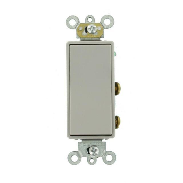 Leviton 20 Amp Decora Plus Commercial Grade Double Pole Rocker Switch  Gray