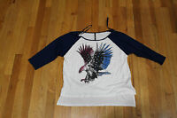 The Oxford Trunk Shirt Tic:toc 3/4 Sleeve Size M Rayon/spandex Eagle