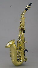 Chateau Curved Soprano Saxophone - Student Model - All Lacquer Finish Body
