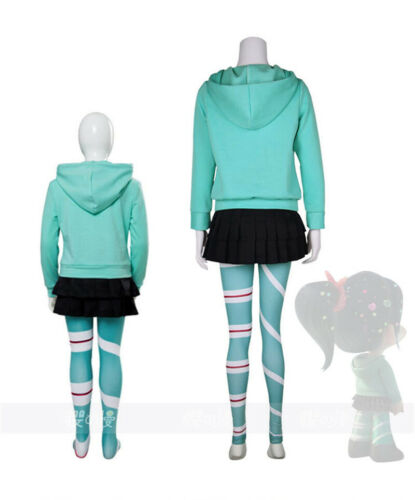 Ralph Breaks the Internet Wreck-It Ralph 2 Vanellope Cosplay Costume Full Outfit